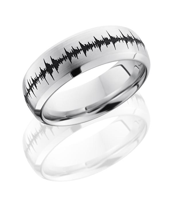 Cobalt Chrome Audio Wave Carved Band