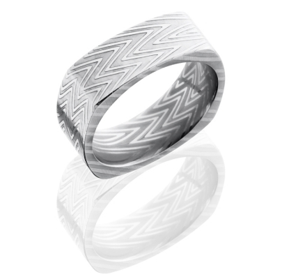 Damascus Steel Square Band