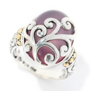 Chalcedony Carved Ring