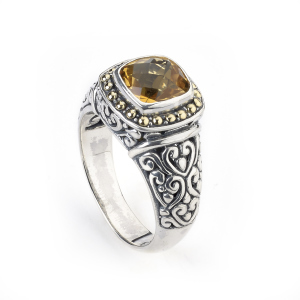 Citrine Carved Ring