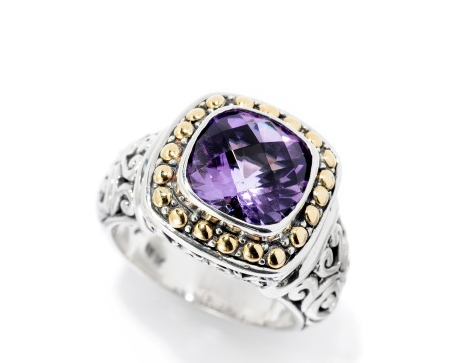 Amethyst Carved Ring