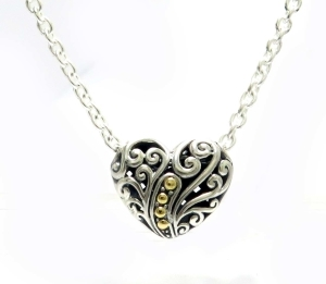 Carved Heart Necklace