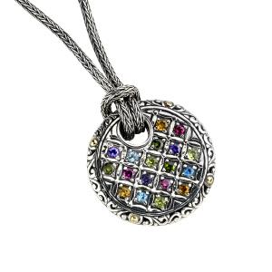 Multi-Gemstone Circle Necklace