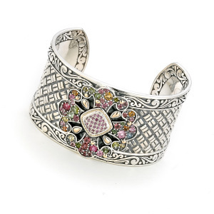 Multi-Gemstone Cuff Bracelet