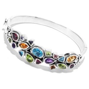Multi-Gemstone Bangle Bracelet
