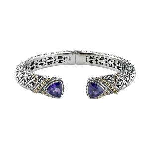 Amethyst Woven Cuff Bracelet
