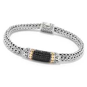 Black Spinel Woven Bracelet