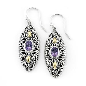 Marquise Amethyst Dangle Earrings